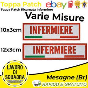 Patch Toppa Infermiere Soccorso Ambulanza Primo Salute Italy Ricamo Termoadesiva