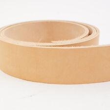 "Veg Tan Tooling Cowhide Leather Belt Blanks, Belt Strips 44""-54"" 8/9oz"