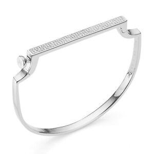 Monica Vinader Signature Thin Diamond Bangle - RRP £595 / 99p Start!