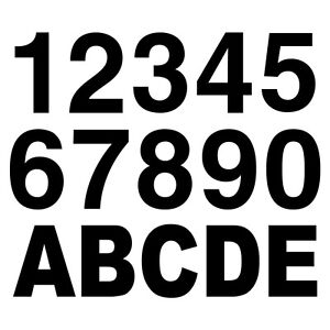 """Reflective Black 2"""" tall Letters and Numbers - $1.00 each"""