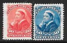 "Canada 1893 20c & 50c ""Widows Weeds"" SG 115-116 (Mint)"