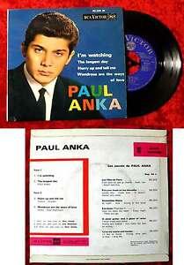 EP Paul Anka: I´m Watching + 3 (RCA Victor 86 339 M) F 1963
