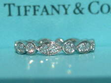 TIFFANY & CO. JAZZ SWING WEDDING PLATINUM .62 DIAMOND BAND RING SIZE 7