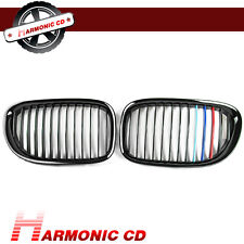 Fit BMW 2009-2015 F01 F02 730d 740i 750i Jet Black Front Kidney Grille Tri Color