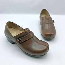 Dansko 9815780200 Women Brown Slip On Clog Shoe Size 5.5-6 EUR 36 Pre Owned