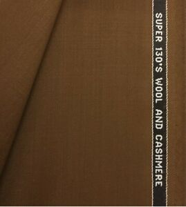 3.5 Metres Brown Super 130s Wool & Cashmere Suit Fabric. Made In England