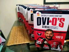 2X Ovi O's Alexander Ovechkin #8 Honey Nut Flavored Cereal-Limited Edition