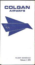 Colgan Airways system timetable 2/1/79 [7081]