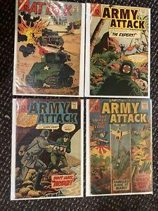 GOLDEN AGE COMICS Army Attack Comics Lot 2 Ungraded