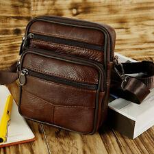 Men's Adjustable Genuine Leather Briefcase Handbag Travel Shoulder Messenger Bag