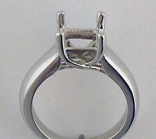 1CT Princess Cut  Ring Mounting 14K White Gold 5.5mm X 5.5mm  Square Cut Setting