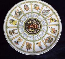 Wedgwood & Barlsto of Etruria 1978 Samurai Calendar plate Eight Series Japan