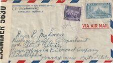 Venezuela IIWW censored cover from Barcelona to Philadelphia Pennsylvania USA