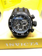 Invicta Mens BOLT 0970 Black Rubber Strap Analog Chronograph Watch #CC11