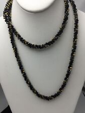 $45 Anne Klein Black & Gold Long Beaded Necklace A109