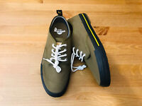 Dr Martens Pressler lace up olive green canvas shoes NWOB size men's 9 wmn's 10