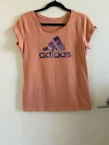 ADIDAS Climalite T-shirt Womens Size Small Cotton Blend Top, Great Condition