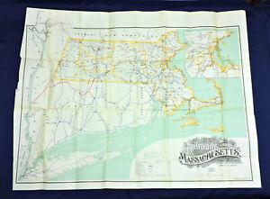 1915 Map of the Railroads of Massachusetts - Wright & Potter / Walker Lith & Pub