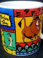 Disney The Lion King Ceramic Coffee Mug Simba Timon & Pumba Vintage 12oz