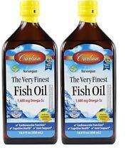 Carlson Omega-3 Norwegian Fish Oil EPA&DHA Lemon Flavor 500ml Double Pack