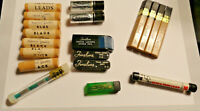 VINTAGE LOT MECHANICAL PENCILS LEAD REFILLS 6 Different brands!!