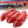 4 Pcs Red 3D Brake Caliper Covers Universal Car Style Disc Front Rear Kits WL03