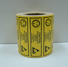 ESD 2x5/8 CAUTION Electrostatic Sensitive Devices Anti Static Warning 500 Labels