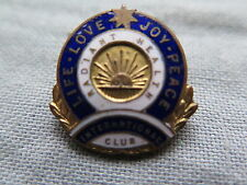 NURSES BADGE ?? RISING SUN AUSTRALIA LIFE LOVE JOY PEACE RADIANT HEALTH c1930s