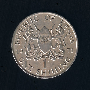 Kenya - 1 Shilling - 1971 - KM# 14
