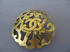 Authentic Vintage Chanel gold color brooch