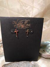 Kesha Rose By Charles Albert Cross Earrings Collectible