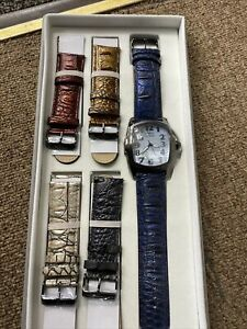 New Invicta Mens Lupah 16056 Interchangeable Watch Set - 5 Bands Total