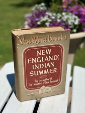 New England: Indian Summer By Van Wyck Brooks, 1940 First Edition Book, HC/DJ