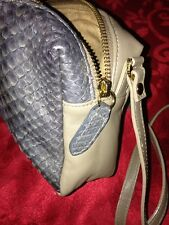 Be & D USA LEATHER TAN SMALL PURSE EVENING SHOULDER STRAP SNAKESKIN? HAND BAG