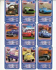"LOT DE 9 CARTES DISNEY AUCHAN  ""CARS"""