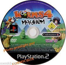 WORMS 4 MAYHEM - jeu de stratégie pour console sony PS2 PlayStation 2 pal testé