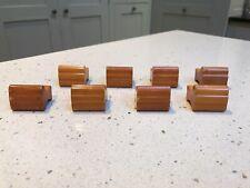 More details for old amber butterscotch bakelite drawer door handles catalin art deco phenolic