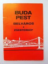 Hungary BUDAPEST CITY POCKET MAP 1989 Souvenir Travel Tour Guide Book