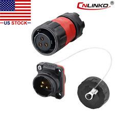 3 Pin Power Circular Connector Female Plug Amp Male Socket Outdoor Waterproof Ip67