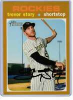Trevor Story 2020 Topps Heritage 5x7 Gold #350 /10 Rockies