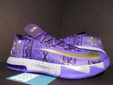 Nike Zoom KEVIN DURANT KD VI 6 BHM BLACK HISTORY MONTH PURPLE 646742-500 NEW 9.5