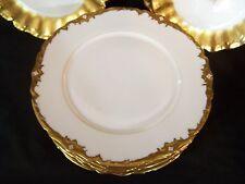 "12 Antique LIMOGES GDC Avenir Gold Encrusted Rim DINNER PLATES 9.75"" dia"