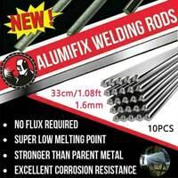10x 33cm/1.08ft 2.0/1.6mm Solution Welding Flux-Cored Rods Aluminum Wire Brazing