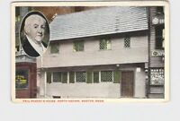 PPC POSTCARD MASSACHUSETTS BOSTON PAUL REVERE'S HOUSE NORTH SQUARE EXTERIOR