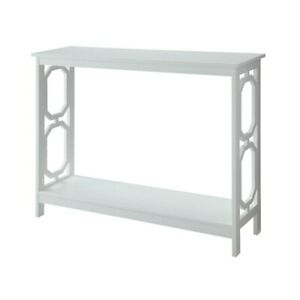 Convenience Concepts Omega Console Table, White - 203230W
