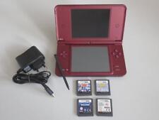 IMPECCABLE Console Nintendo DSi XL Bordeaux + 7 Jeux FIFA Spectrobes Dogz Tubes.