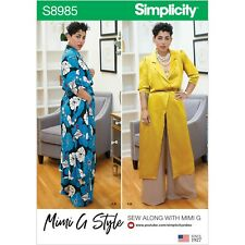 SIMPLICITY SEWING PATTERN S8985 MISSES' AND WOMEN'S MIMI G STYLE SPORTSWEAR