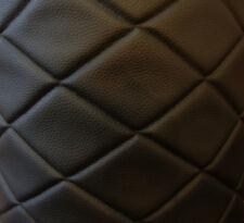 Vinyl Upholstery Black 4x6 Diamond Quilted fabric 3/8