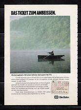 3w683/ Alte Reklame - von 1979 - DIE BAHN - Das Ticket zum Anbeissen.