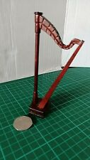1:12 Scale Brown Nonworking Wooden Harp /& Stool Tumdee Dolls House Instrument